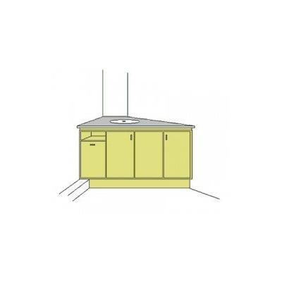 Entwurf eines Waschtisch mit Unterschrank.